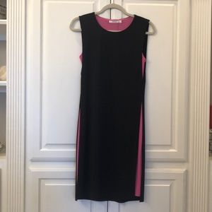 Classy black and pink domino dress